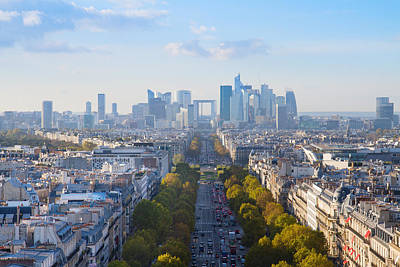 Paris Skyline Royalty-Free and Rights-Managed Images - Skyline of Paris by Anastasy Yarmolovich