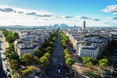 Paris Skyline Royalty-Free and Rights-Managed Images - Skyline of Paris, France by Anastasy Yarmolovich