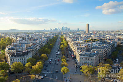 Paris Skyline Royalty-Free and Rights-Managed Images - Skyline of Paris from place de l Etoile in France by Anastasy Yarmolovich