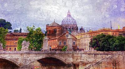 Brian Lukas Photograph - Skyline Of Rome by Brian Lukas
