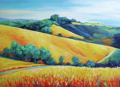 Painting - Skyline Ridge by Stephanie  Maclean