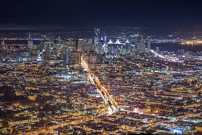 Photograph - Skyline Sf by LiveforBlu Gallery