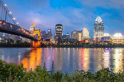 Photograph - Skyline View Of Cincinnati Ohio by Gregory Ballos