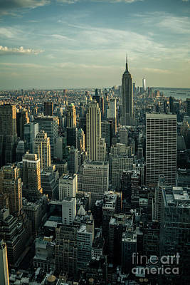 Photograph - Skyline With Empire State Building by Franz Zarda