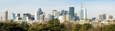 Photograph - Skyline With Skyscrapers Of La Defense Business, Financial, District Of The Paris, France. by Perry Van Munster