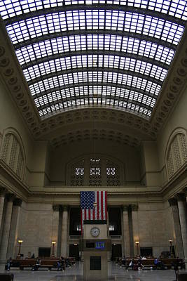 Skylit Chicago Union Station  Art Print by Christopher Kirby