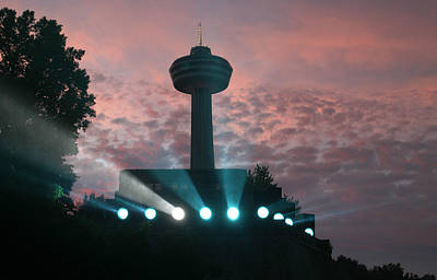 Photograph - Skylon Tower And Illumination Building by Living Color Photography Lorraine Lynch