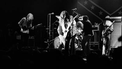 Photograph - Skynyrd Sf 1975 #2 Crop 2 by Ben Upham