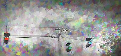 Skyride - Lagoon Amusement Park  Utah Art Print by Steve Ohlsen