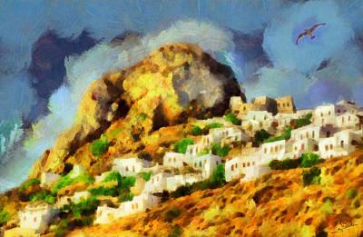 Trees Painting - Skyros Island by George Rossidis