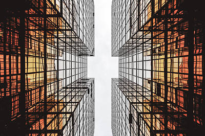 City Photograph - Skyscraper - Abstract Urban Architecture by Wall Art Prints