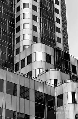 Photograph - Skyscraper Dimensions Mono by John Rizzuto
