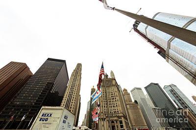 Photograph - Skyscraper Lines Chicago by John Rizzuto