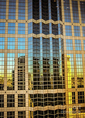 Photograph - Skyscraper Reflections #2 by Blake Webster