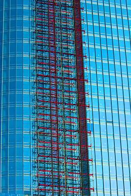Photograph - Skyscraper Scaffold by Polly Castor