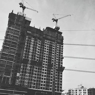 Photograph - Skyscraper Under Construction by Sirikorn Techatraibhop