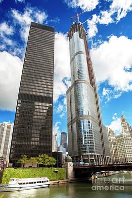 Photograph - Skyscrapers Along The Riverwalk by John Rizzuto