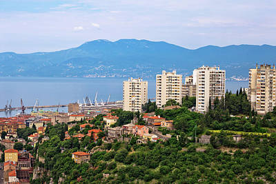 Photograph - Skyscrapers And Bay Of Rijeka View by Brch Photography