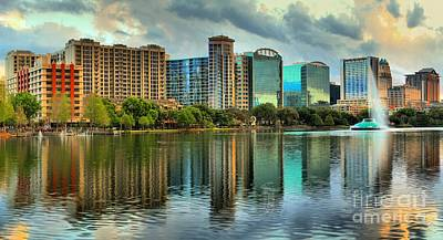 Photograph - Skyscrapers Of Orlando by Adam Jewell