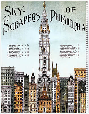 Philadelphia Freedom Photograph - Skyscrapers Of Philadelphia  1898 by Daniel Hagerman