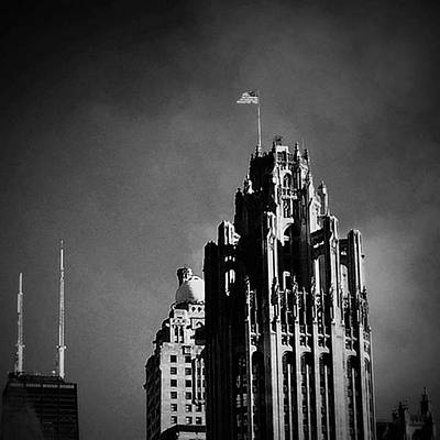 Skylines Wall Art - Photograph - Skyscrapers Then And Now by Frank J Casella