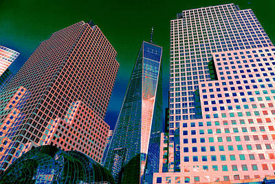 Digital Art - Skyscraping - New York Freedom Tower by Art America Gallery Peter Potter