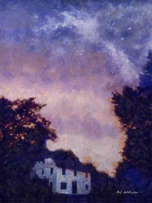 Connecticut Landscape Digital Art - Skyshow by RC deWinter