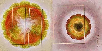 Tenn Painting - Skysweeper Nude Flowers  Id 16165-003749-56021 by S Lurk