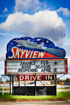 Skyview Drive-in Theater Art Print by Robert  FERD Frank