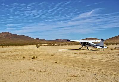 Photograph - Skywagon 185 Cessna On Sand Landing Strip by Waterdancer