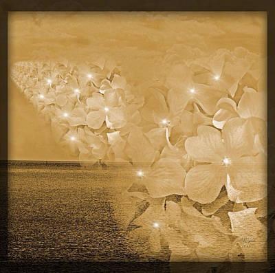 Merging Photograph - Skyward Blossom by Majula Warmoth