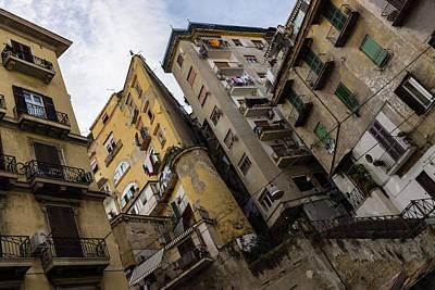 Skyward In Naples Italy - Spanish Quarters Take Four Art Print