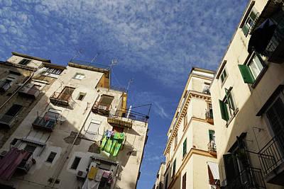 Skyward In Naples Italy - Spanish Quarters Take One Art Print