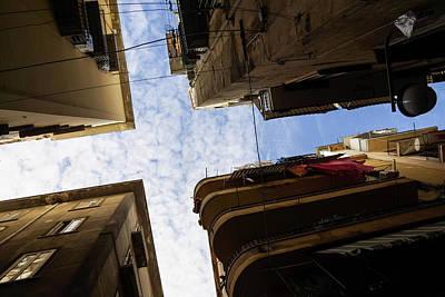 Skyward In Naples Italy - Spanish Quarters Take Two Art Print