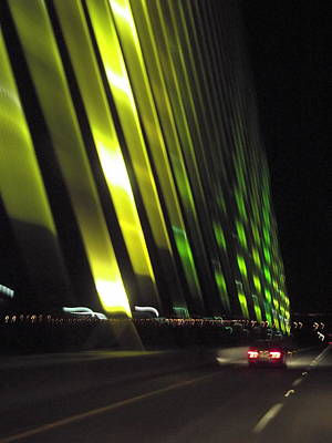 Photograph - Skyway At Night 5559 by Wesley Elsberry