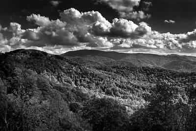 Photograph - Skyway Clouds In Black And White by Chrystal Mimbs