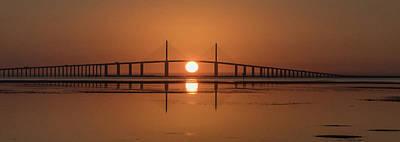 Photograph - Skyway Sunrise by Jim Gray