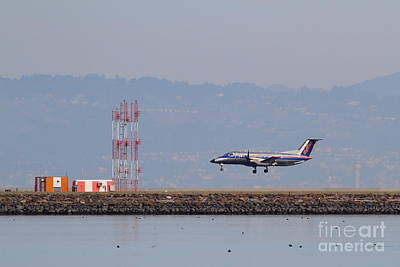 Skywest Airlines Jet Airplane At San Francisco International Airport Sfo . 7d12127 Art Print