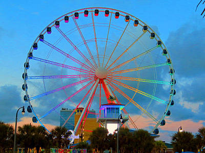 Photograph - Skywheel by Aaron Martens
