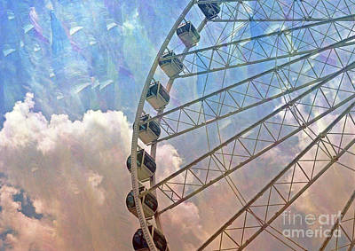 Photograph - Skywheel by Lydia Holly
