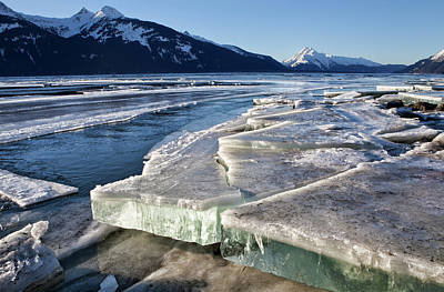Photograph - Slabs Of Ice by Michele Cornelius