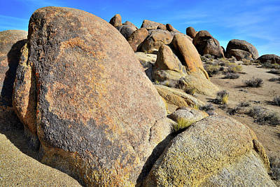 Photograph - Slanted Boulders In The Alabama Hills by Ray Mathis