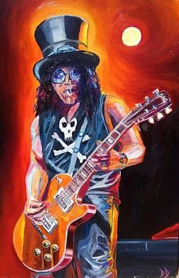 Axl Painting - Slash by Danny Dunn