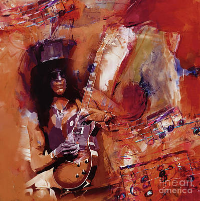 Painting - Slash  by Gull G