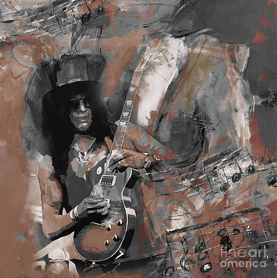 Slash Guns And Roses  Art Print
