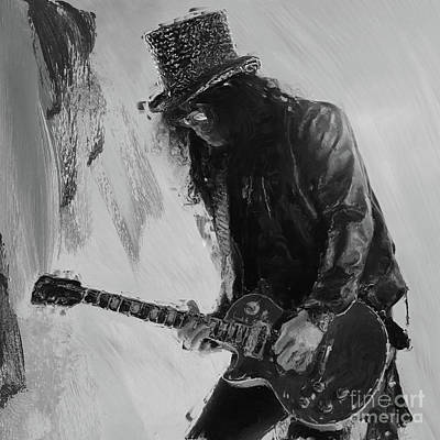 Painting - Slash Musician by Gull G