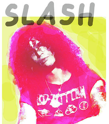 Def Leppard Drawing - Slash Portrait  by Enki Art