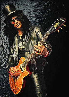 Music Digital Art - Slash by Zapista
