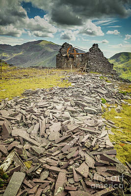 Dilapidated Digital Art - Slate Quarry Ruin by Adrian Evans