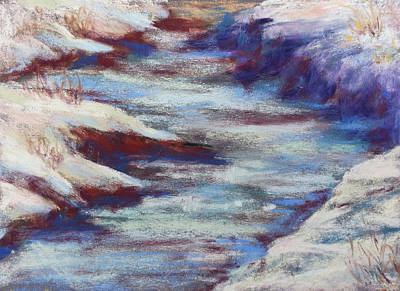Painting - Slate River Melt by Becky Chappell